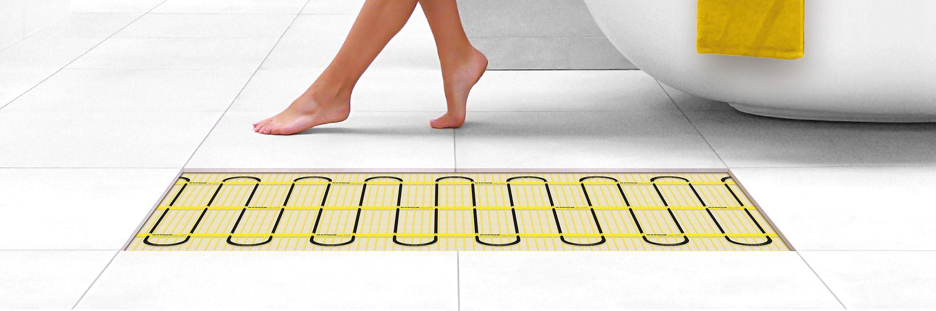 Met Magnum vloerverwarming altijd warme voeten - Baden+