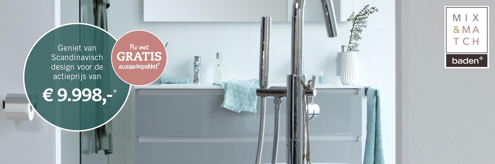 Actie scandinavische badkamer 2018 - Sanitair- en Tegelhuis ...