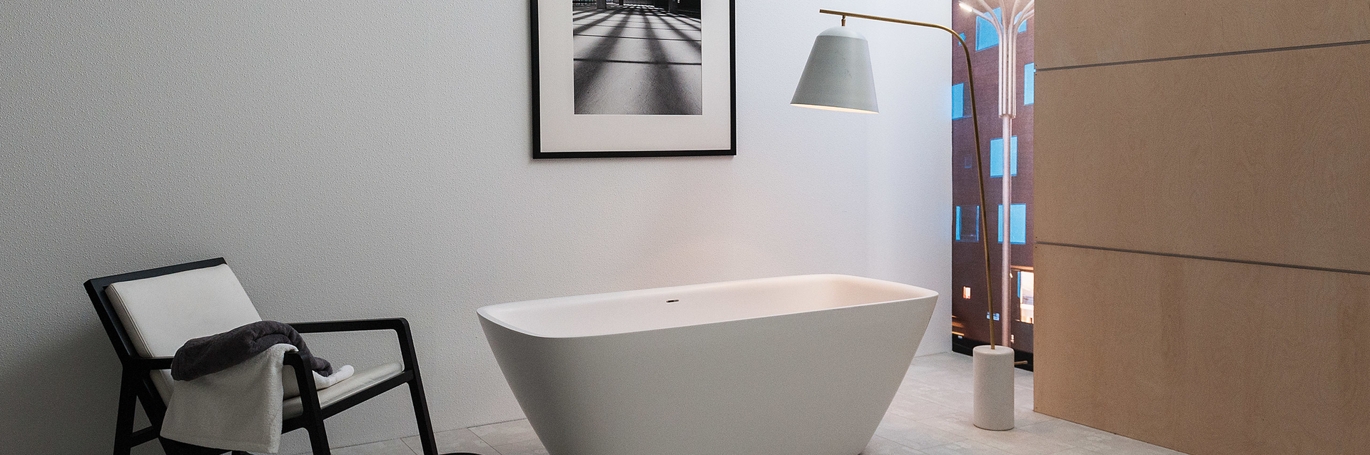 Vrijstaand bad badkamer - Baden+