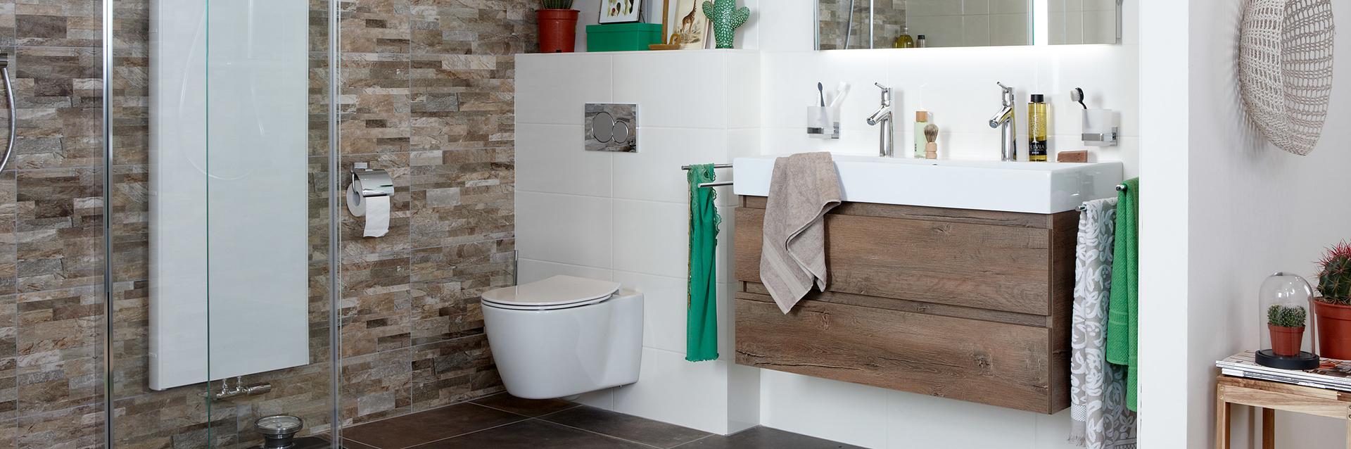 Badkamer met natuurlijke materialen - Badkamer met natuurlijke materialen