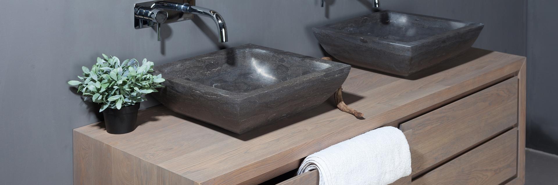 Eikenhouten badkamermeubelen - Eikenhouten badkamermeubelen
