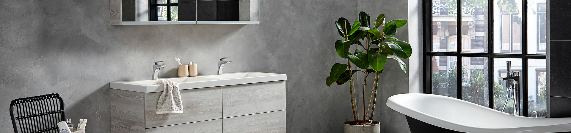 Trend: Betonlook in de badkamer - Trend: Betonlook in de badkamer