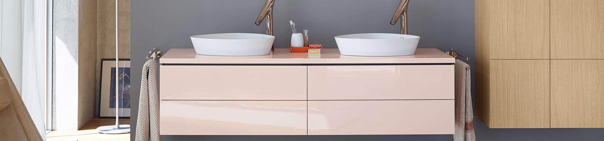 Pastelkleuren in de badkamer - Pastelkleuren in de badkamer
