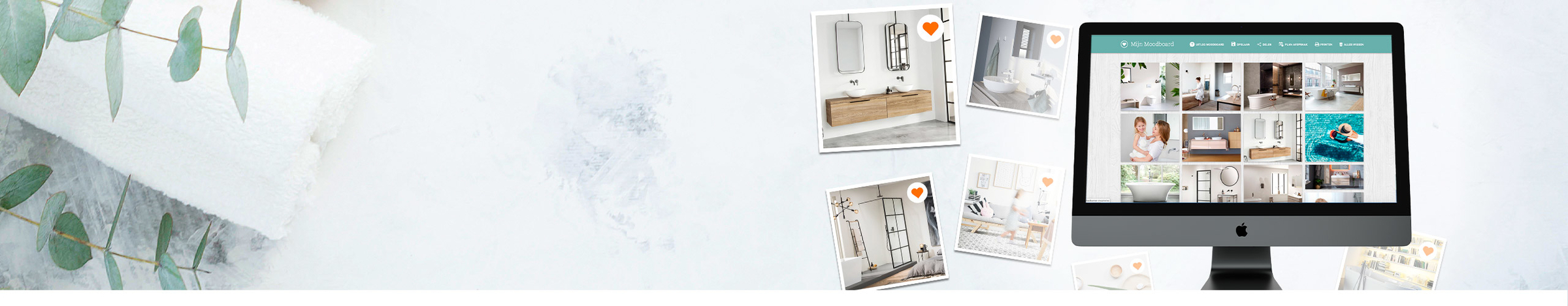 Badkamer moodboard maken - Ga aan de slag met je eigen badkamer moodboard