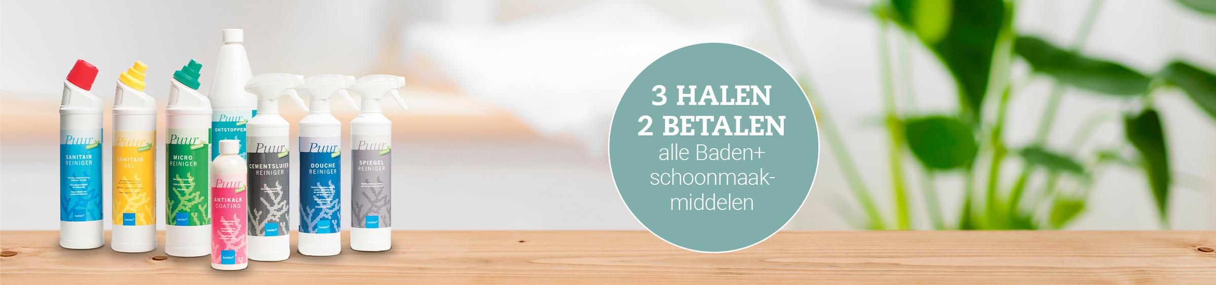 3 halen 2 betalen voor alle Baden+ schoonmaakmiddelen - 3 halen 2 betalen voor alle Baden+ schoonmaakmiddelen