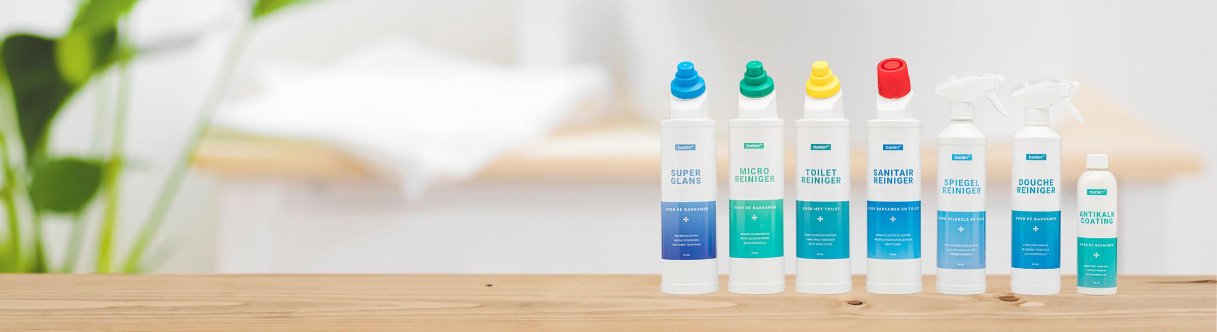 Onderhoudstips voor je badkamer - Banner - schoonmaakmiddelen (blog onderhoudstips)