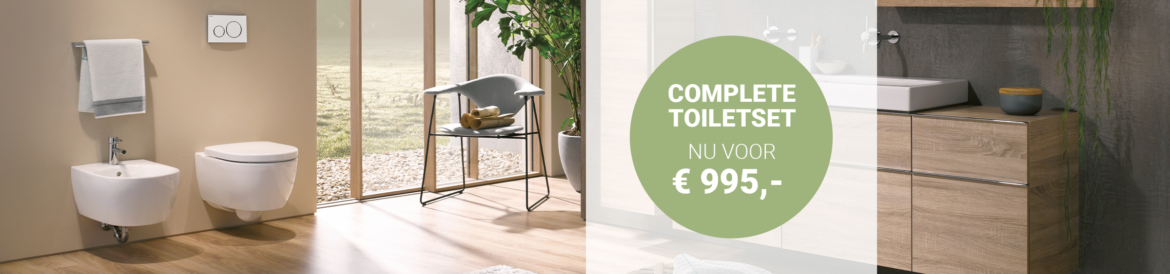 Geberit DuoFresh toiletset - Geberit DuoFresh toiletset