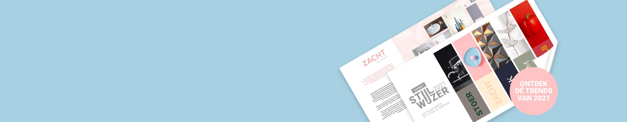 Kleur in de badkamer - Banner - Download stijlwijzer badkamertrends 2021