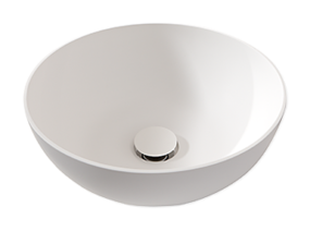 Maatwerk badkamermeubel - stijlvolle ronde opbouwkom