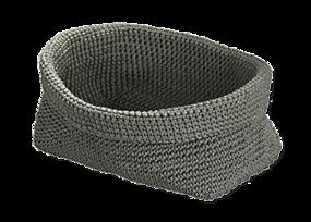 Badkamermeubel met wastafel - accessoire grijs mandje