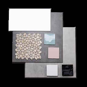 Trendy badkamer - Collage Modern Tones 2 - sfeervolle tegels