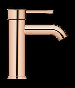 Wastafel wc - roségouden design kraan