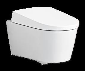 Randloos toilet - hangende variant