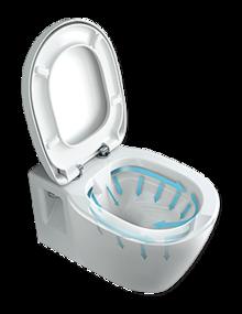 Staand toilet - randloos voor extra hygiëne
