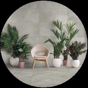 Wellness badkamer in scandinavische stijl - Collage wellness badkamer 1 - Planten in de badkamer