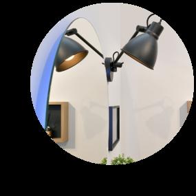 Badkamer in hotel-stijl - Collage hotel-stijl badkamer - Leuke lampen