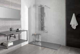 Douchevloer in stijl van complete badkamer