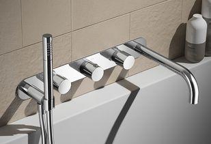 Inbouwkraan voor bij het bad met handdouche
