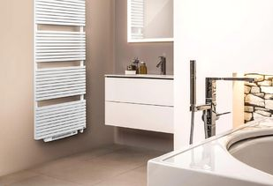 Design radiator in klassiek wit