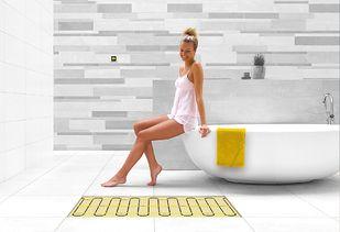 Houtlook tegels in combinatie met vloerverwarming