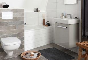 Kleine badkamer met tegels van Sphinx