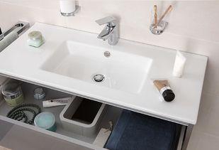 Houtlook badkamer meubel met softclose lades
