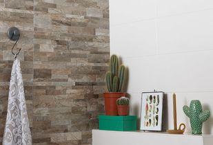 Natuurlijke badkamer met natuurlijke materialen