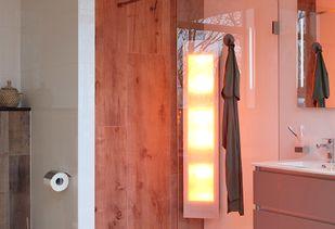 Scandinavische badkamer met sunshower