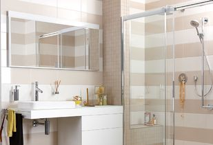 Spiegelkast in badkamer met alle comfort