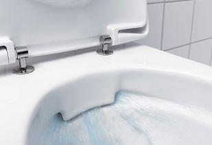 Randloos toilet voorbeeld van werking