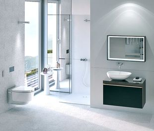 Luxe badkamer - douchewc met geurzuiveringssysteem