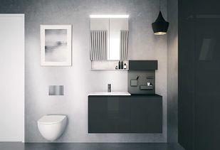 Compleet badkamermeubel met maatwerk wasbak