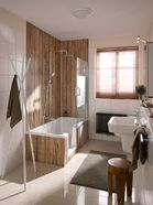 Douchebad in een kleine badkamer