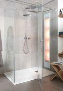 Maatwerk badkamer met grote douchecabine