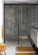 Badkamer met hexagon tegels - Badkamer met hexagon tegels