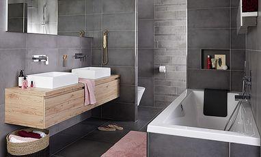 Familie badkamers - Betonlook badkamer