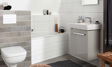 Kleine badkamers - Kleine badkamer met bad