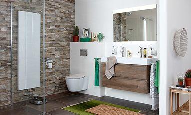 Natuurlijke badkamers - Badkamer met natuurlijke materialen
