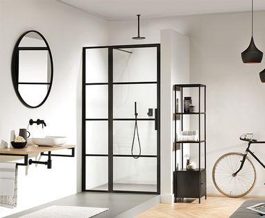 Badkamermeubel met wastafel - polaroid-blog-zwart-badkamer