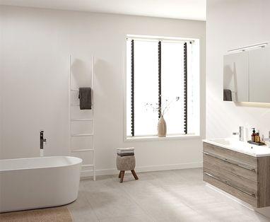 Wastafel voor de wc ook met toiletkastje astra badkamers tegels