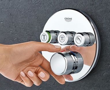 Grohe Essence New Colour badkamerkranen - Grohe rainshower SmartControl
