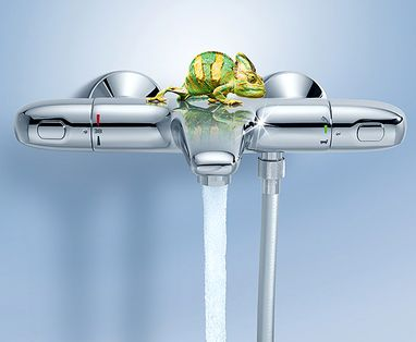 Grohe Essence New Colour badkamerkranen - Grohe thermostaatkranen