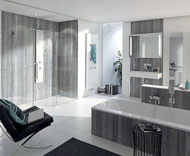Douchewand Glas Schoonmaken : Minder schoonmaken met hsk edelglas in uw douchewand u baden