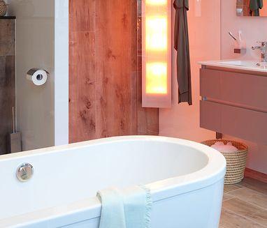 Badkamers - Scandinavische badkamer met Sunshower
