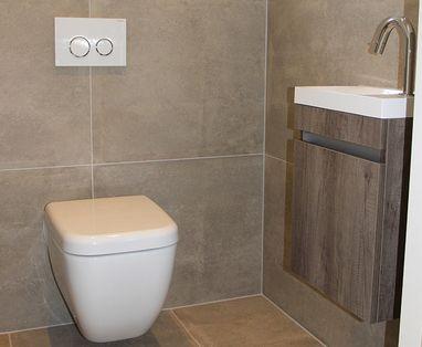 Inspiratie - Kleine badkamer en toilet in Nunspeet