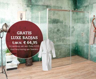 Acties - Actie gratis luxe badjas t.w.v. € 64,95