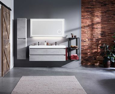 Dubbele wastafel - polaroid-badkamermeubel-badenplus-collectie