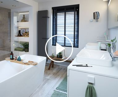 Binnenkijkers - Binnenkijken bij de moderne badkamer van Francis