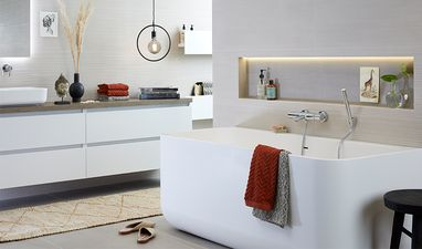 Scandinavische badkamers - Badkamer in hotel-stijl