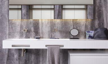 Luxe badkamers - Badkamer marmerlook